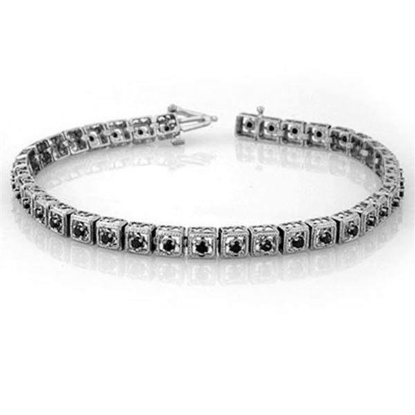 1.0 ctw VS Certified Black Diamond Bracelet 10k White Gold - REF-55A9N