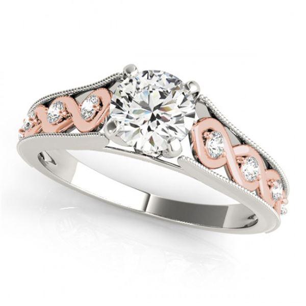 0.55 ctw Certified VS/SI Diamond Solitaire Ring 14k 2Tone Gold - REF-51F8M