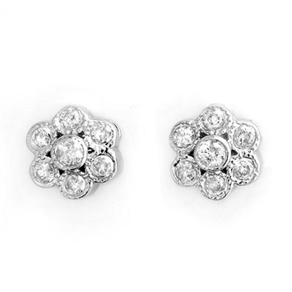 0.50 ctw Certified VS/SI Diamond Earrings 14k White Gold - REF-30R8K