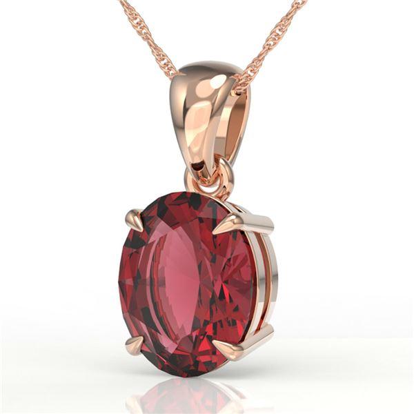 3 ctw Pink Tourmaline Designer Necklace 14k Rose Gold - REF-37R6K