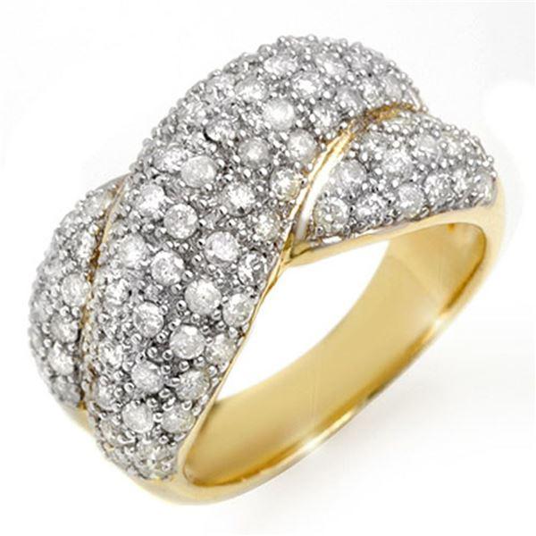 2.05 ctw Certified VS/SI Diamond Ring 14k Yellow Gold - REF-154Y4X