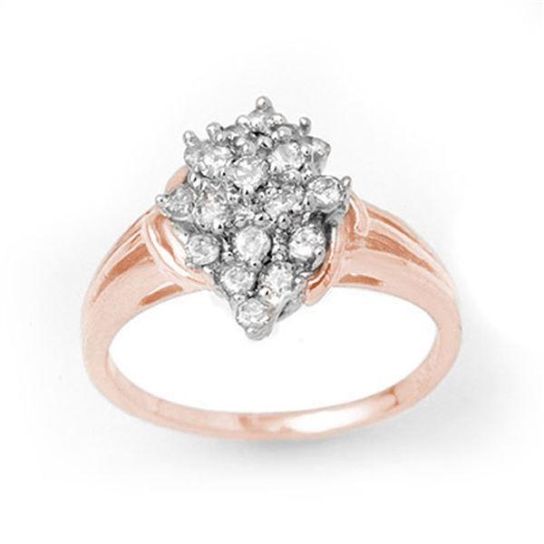 0.25 ctw Certified VS/SI Diamond Ring 18k Rose Gold - REF-31N2F