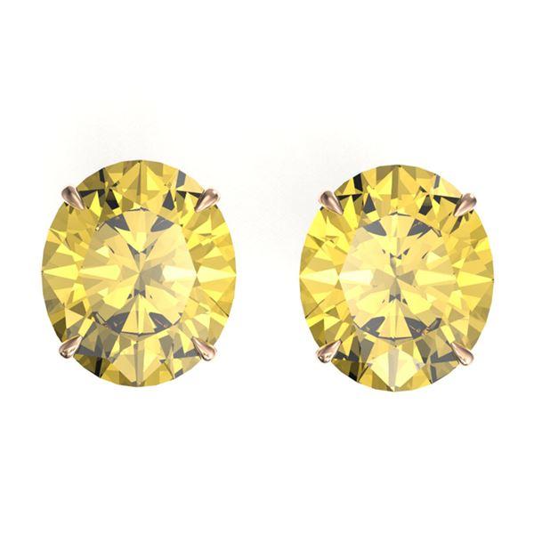18 ctw Citrine Designer Stud Earrings 14k Rose Gold - REF-47G6W
