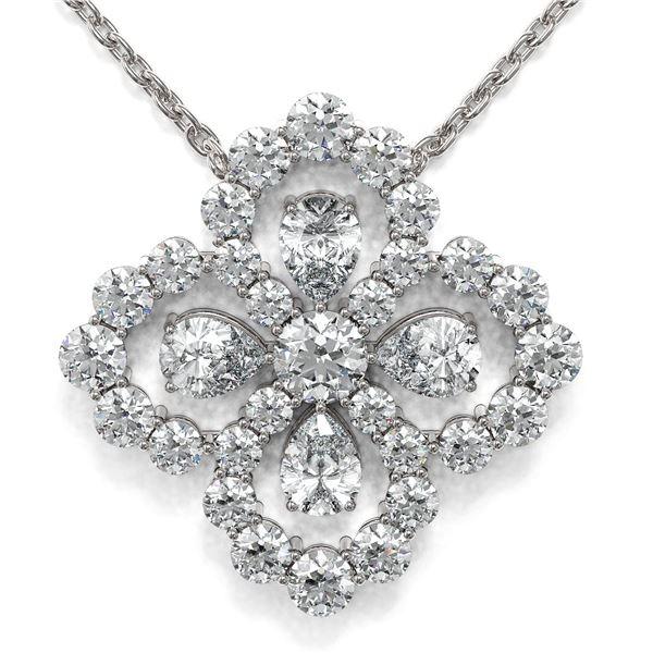 2.5 ctw Pear Cut Diamond Designer Necklace 18K White Gold - REF-243R3K