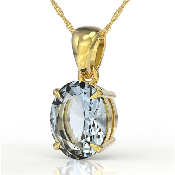 2.5 ctw Aquamarine Designer Necklace 18k Yellow Gold - REF-33G8W