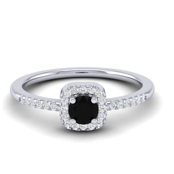 0.55 ctw Micro Pave VS/SI Diamond Ring Designer 18k White Gold - REF-24K3Y