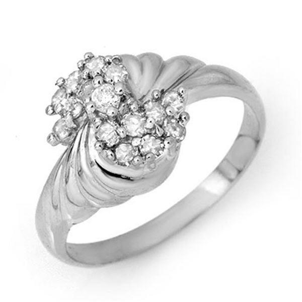 0.25 ctw Certified VS/SI Diamond Ring 14k White Gold - REF-27F3M