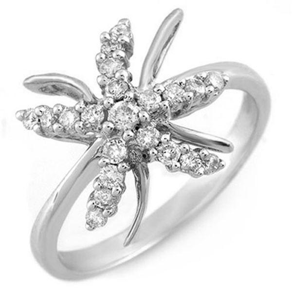 0.25 ctw Certified VS/SI Diamond Ring 18k White Gold - REF-34R3K