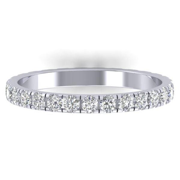 1 ctw Certified VS/SI Diamond Art Deco Eternity Band 18k White Gold - REF-52A3N