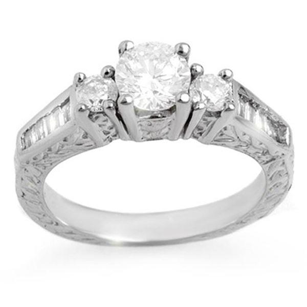 1.01 ctw Certified VS/SI Diamond Ring 14k White Gold - REF-128Y8X
