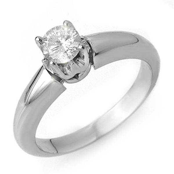 0.50 ctw Certified VS/SI Diamond Ring 18k White Gold - REF-98R2K