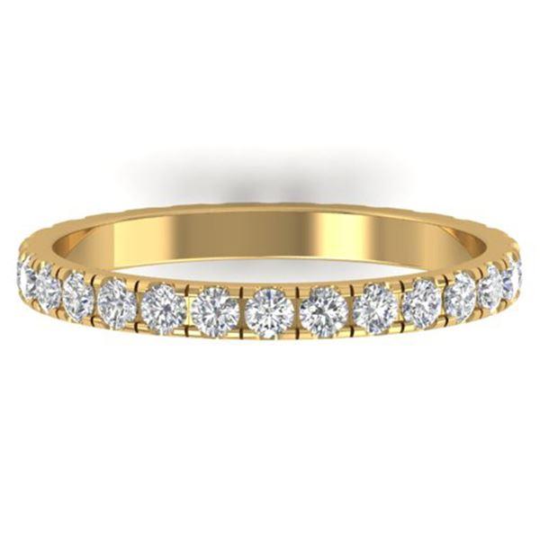 1 ctw Certified VS/SI Diamond Art Deco Eternity Band 14k Yellow Gold - REF-49W3H