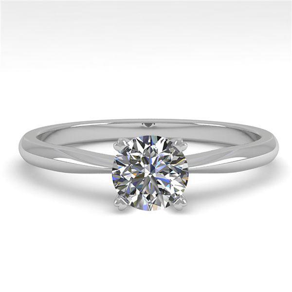 0.54 ctw VS/SI Diamond Engagment Designer Ring 14k White Gold - REF-68A8N