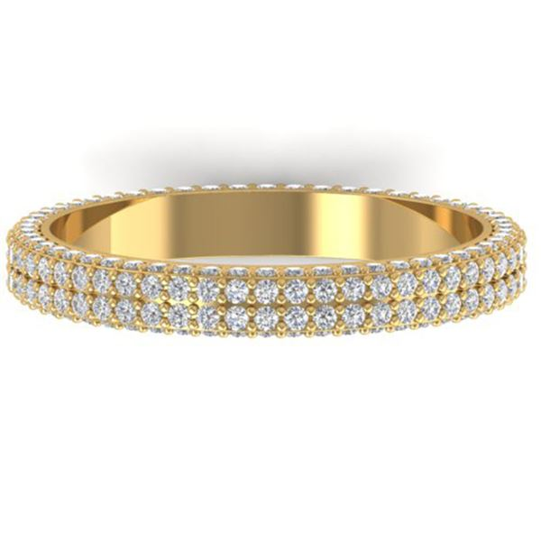 1.75 ctw Certified VS/SI Diamond Micro Eternity Ring 14k Yellow Gold - REF-130N9F