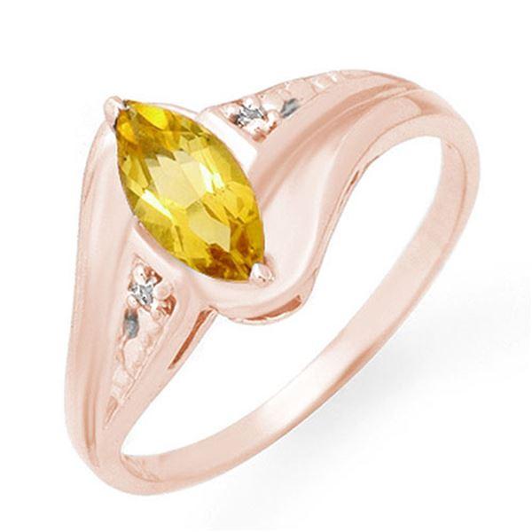 0.36 ctw Citrine & Diamond Ring 10k Rose Gold - REF-10W2H