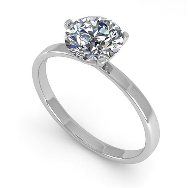 0.50 ctw Certified VS/SI Diamond Engagment Ring Martini 14k White Gold - REF-82R5K