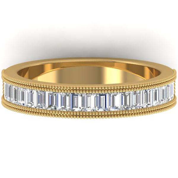 1 ctw Baguette VS/SI Diamond Art Deco Eternity Ring 14k Yellow Gold - REF-107K3Y