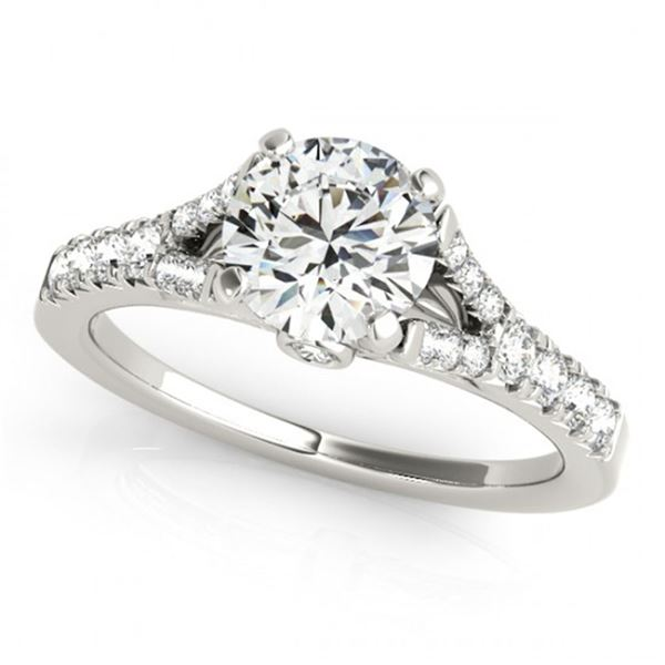0.75 ctw Certified VS/SI Diamond Solitaire Ring 14k White Gold - REF-53Y2X