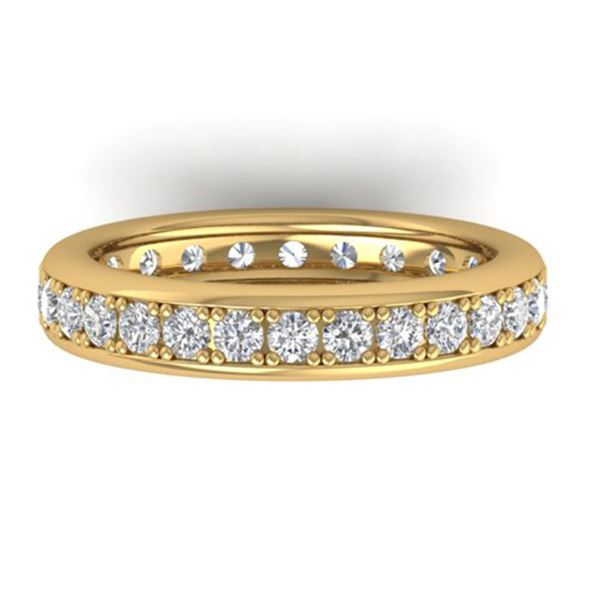 1.33 ctw Certified VS/SI Diamond Eternity Band 14k Yellow Gold - REF-98M5G