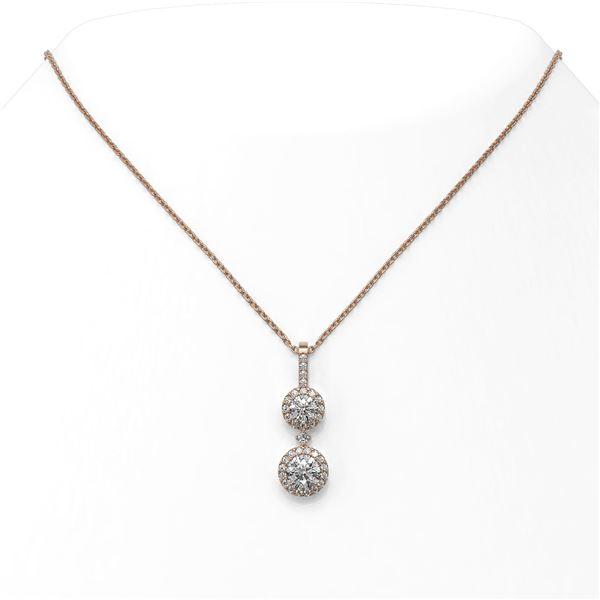 1.25 ctw Diamond Designer Necklace 18K Rose Gold - REF-139M5G