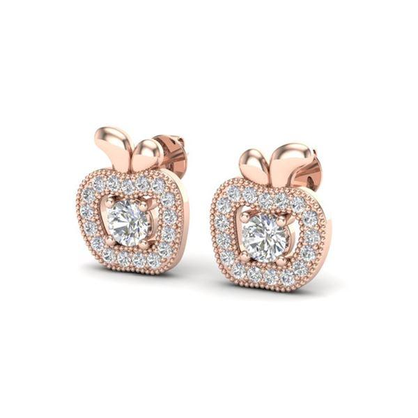 0.60 ctw VS/SI Diamond Micro Pave Earrings 14k Rose Gold - REF-41M2G