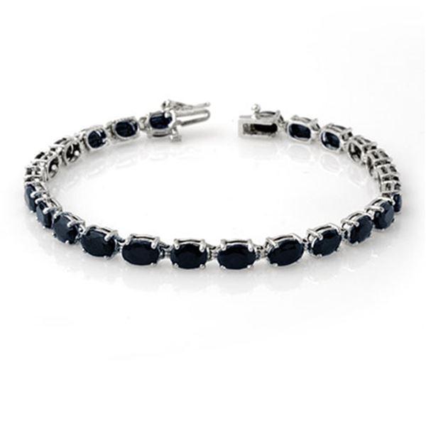 17.80 ctw Blue Sapphire Bracelet 10k White Gold - REF-55G8W