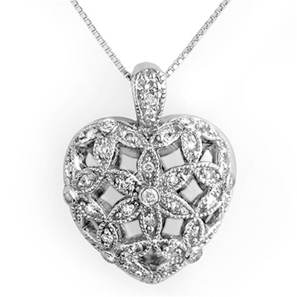 0.70 ctw Certified VS/SI Diamond Necklace 10k White Gold - REF-52X8A
