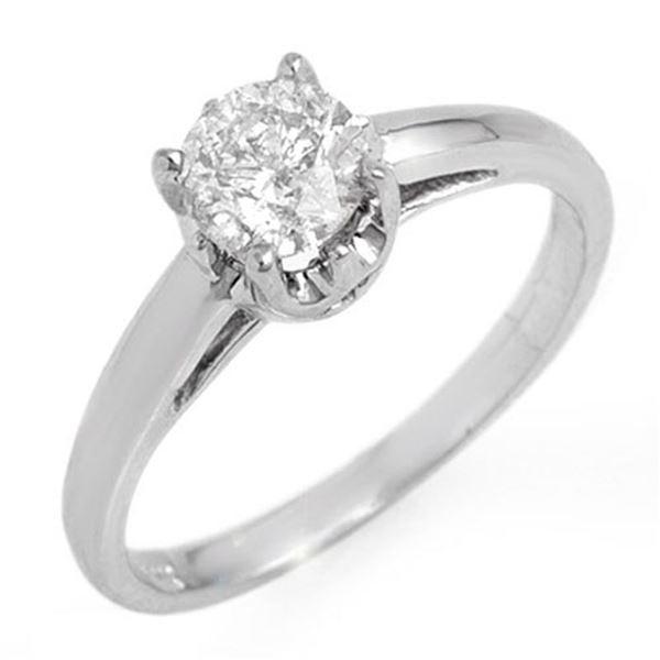 0.80 ctw Certified VS/SI Diamond Solitaire Ring 14k White Gold - REF-163R6K