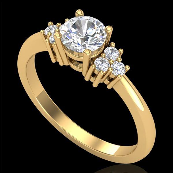 0.75 ctw VS/SI Diamond Ring 18k Yellow Gold - REF-131R3K