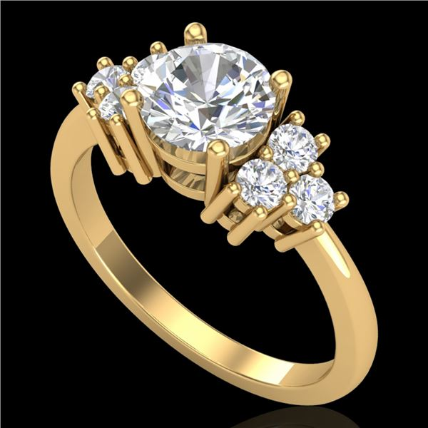 1.5 ctw VS/SI Diamond Solitaire Ring 18k Yellow Gold - REF-409X3A