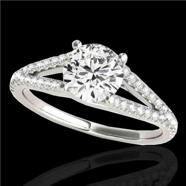 1.25 ctw Certified Diamond Solitaire Ring 10k White Gold - REF-177G3W