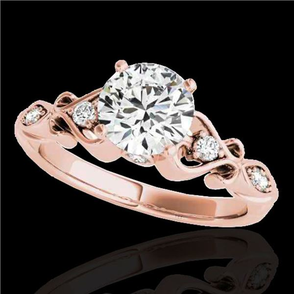 1.15 ctw Certified Diamond Solitaire Antique Ring 10k Rose Gold - REF-190M9G
