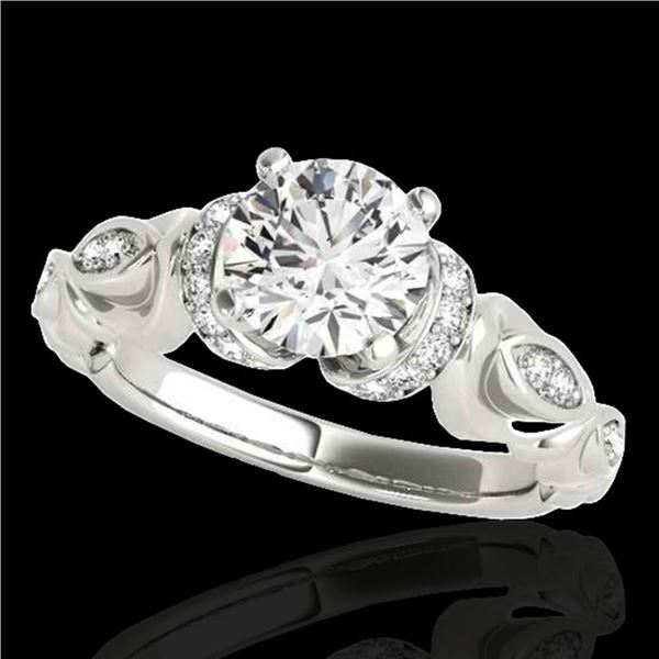 1.2 ctw Certified Diamond Solitaire Antique Ring 10k White Gold - REF-196M4G