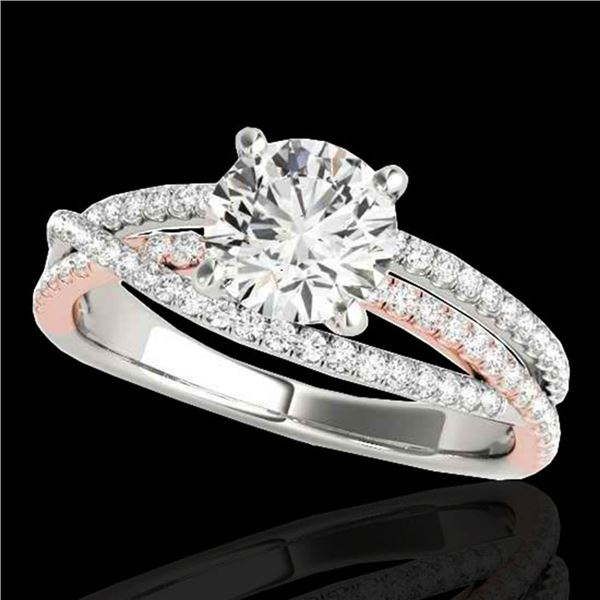 1.65 ctw Certified Diamond Solitaire Ring 10k 2Tone Gold - REF-244F3M