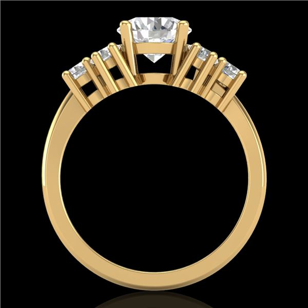2.1 ctw VS/SI Diamond Solitaire Ring 18k Yellow Gold - REF-465X2A