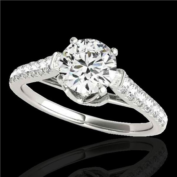 1.46 ctw Certified Diamond Solitaire Ring 10k White Gold - REF-182M8G