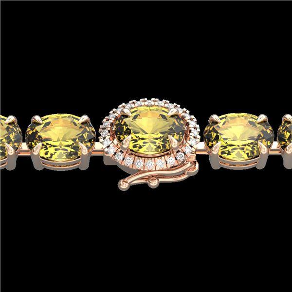 29 ctw Citrine & VS/SI Diamond Micro Pave Bracelet 14k Rose Gold - REF-117A3N
