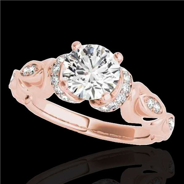 1.2 ctw Certified Diamond Solitaire Antique Ring 10k Rose Gold - REF-196W4H