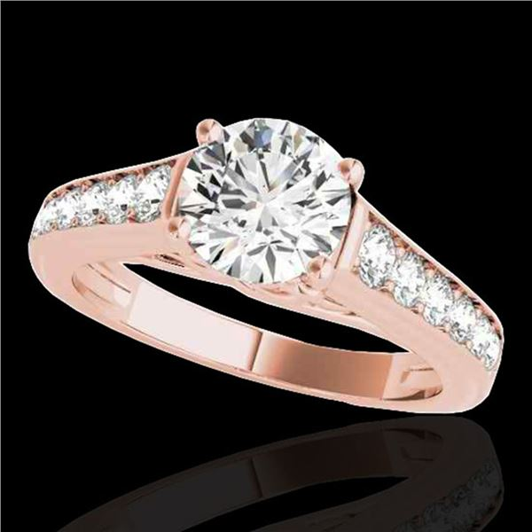 1.5 ctw Certified Diamond Solitaire Ring 10k Rose Gold - REF-204K5Y