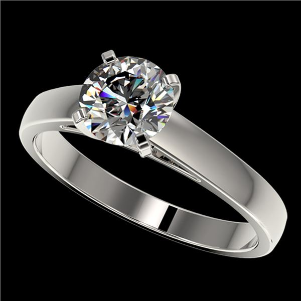 1.29 ctw Certified Quality Diamond Engagment Ring 10k White Gold - REF-177K8Y