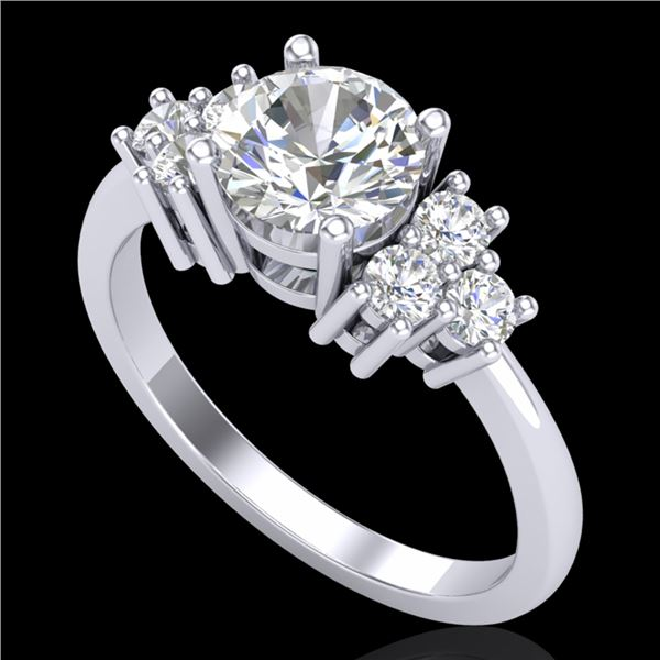 1.5 ctw VS/SI Diamond Solitaire Ring 18k White Gold - REF-409H3R