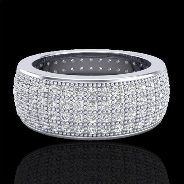 2.50 ctw Micro Pave VS/SI Diamond ERERNITY Ring .5 18k White Gold - REF-249R3K
