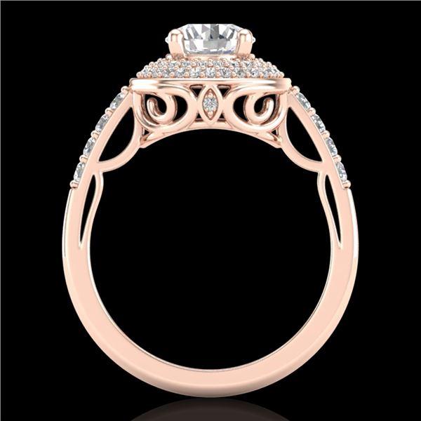 1.7 ctw VS/SI Diamond Solitaire Art Deco Ring 18k Rose Gold - REF-436K4Y