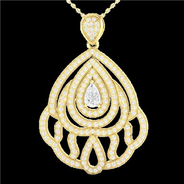 2 ctw Micro Pave VS/SI Diamond Designer Necklace 18k Yellow Gold - REF-345X5A