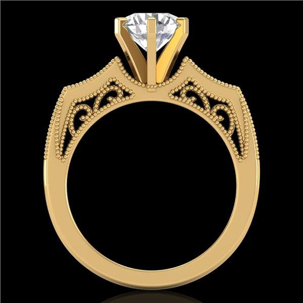 1.51 ctw VS/SI Diamond Solitaire Art Deco Ring 18k Yellow Gold - REF-442K5Y