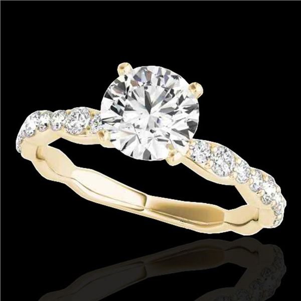 1.4 ctw Certified Diamond Solitaire Ring 10k Yellow Gold - REF-197F8M