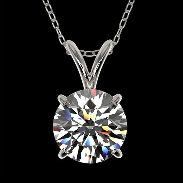 1.28 ctw Certified Quality Diamond Necklace 10k White Gold - REF-188R2K