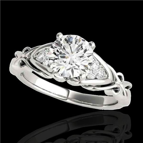 1.35 ctw Certified Diamond SolitaireRing 10k White Gold - REF-238K6Y
