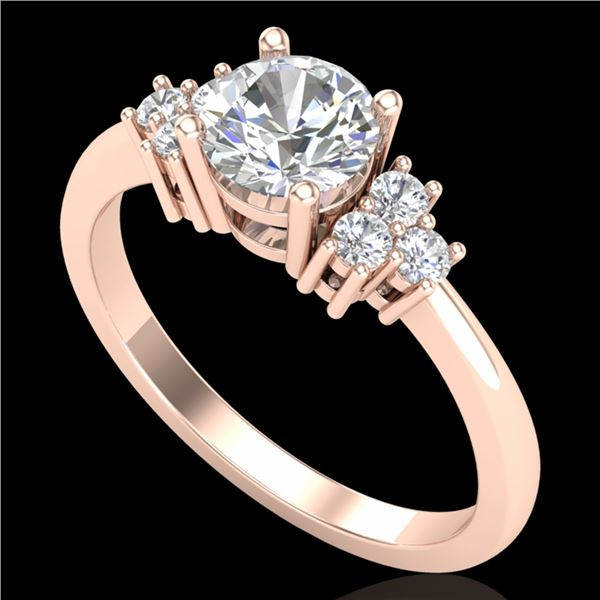 1 ctw VS/SI Diamond Ring 18k Rose Gold - REF-227W3H