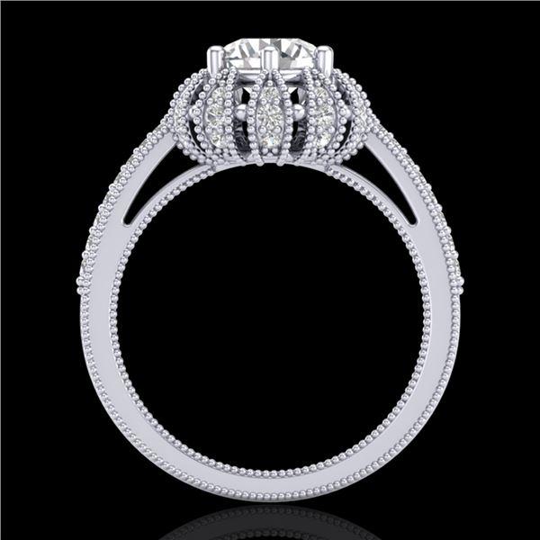 1.65 ctw VS/SI Diamond Art Deco Micro Pave Ring 18k White Gold - REF-427N3F